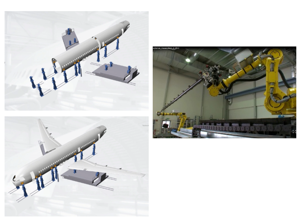 Automated assembly of large parts MAA(Measurement Assisted Assembly)Real-Time Feedback